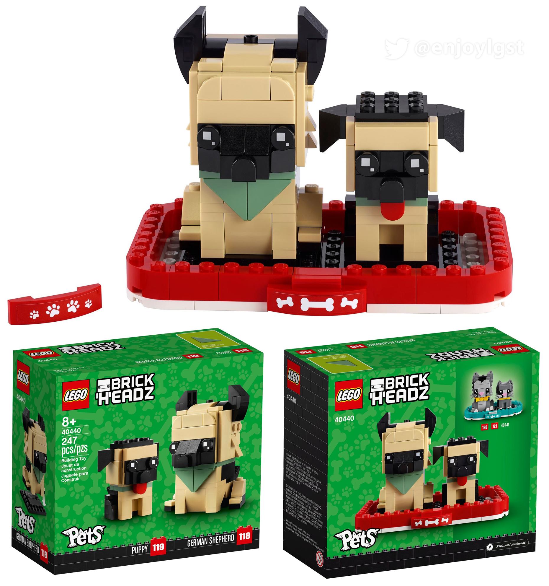 2021年レゴ ブリックヘッズ新製品情報:ペットシリーズ登場