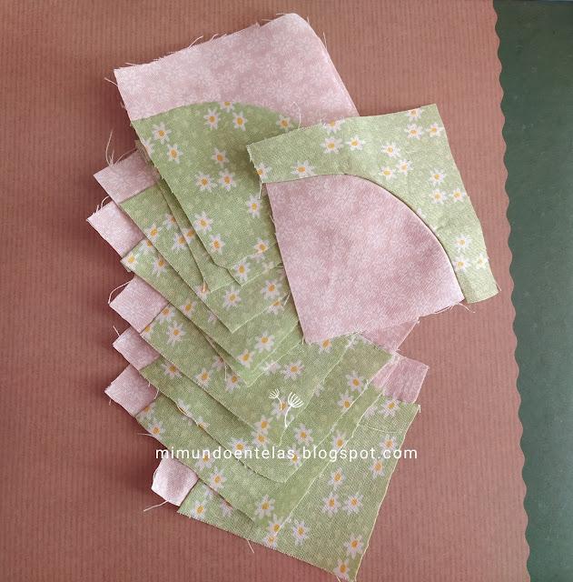 patchwork tutorial  quilt bloque sendero del borracho-curvas-