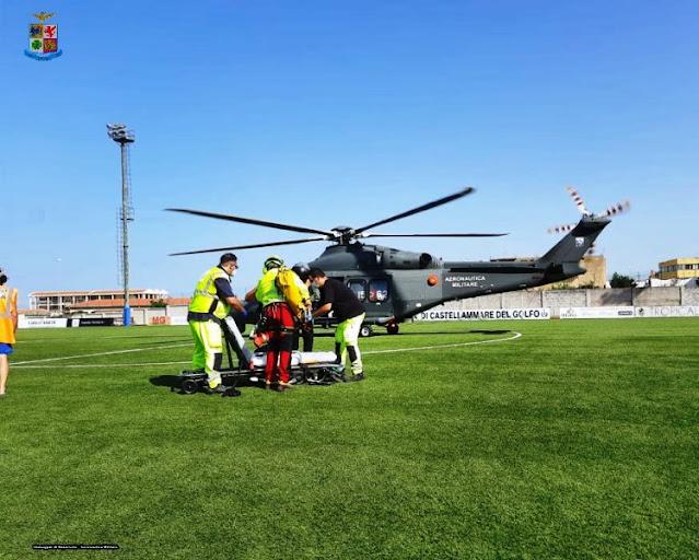 """AM-Ricerca e soccorso: donna recuperata da equipaggio dell'82° Centro C.S.A.R. nella Riserva dello """"Zingaro"""" (TP)"""