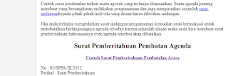Contoh Surat Pemberitahuan Pembatalan Agenda