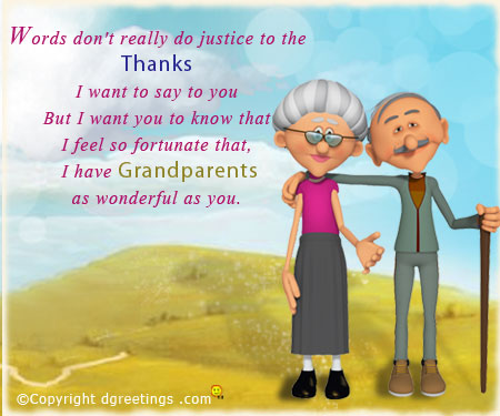 Grandparents day greeting card
