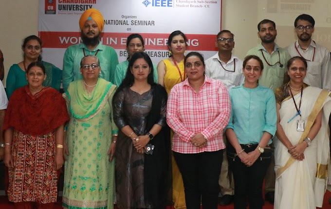 "Chandigarh University in association with IEEE organizes National Seminar on ""Women in Engineering"""