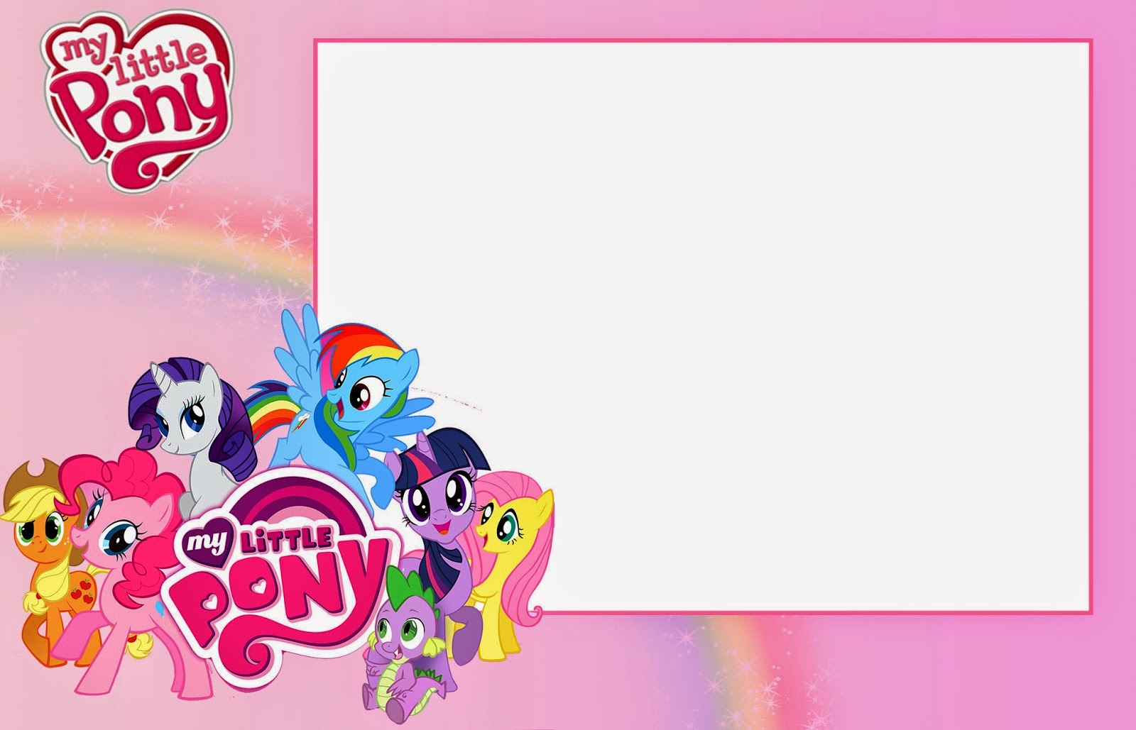 My Little Pony Free Printable Invitations Cards Photo Frames Or Labels