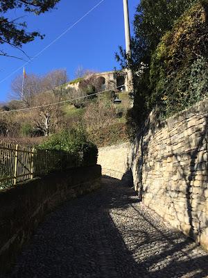 The start of the walk on Salitta delle Scaletta