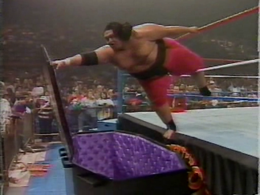 WWF / WWE - Survivor Series 1994: Yokozuna battled The Undertaker in a rematch from their 1994 Royal Rumble casket match