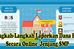 Langkah-Langkah Laporkan Dana BOS Secara Online  Jenjang SMP Terbaru