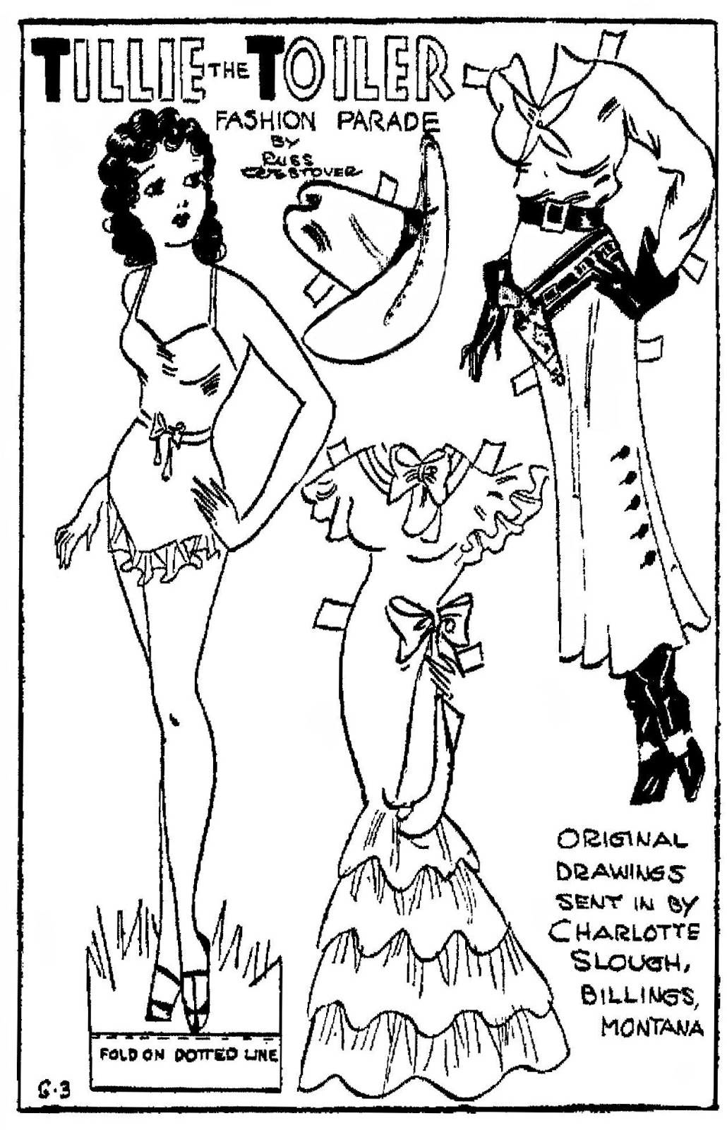 Mostly Paper Dolls Too!: More 1934 Tillie the Toiler Paper