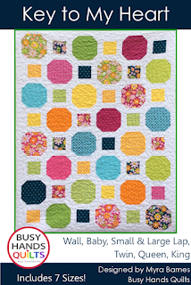 Key to My Heart by Myra Barnes of Busy Hands Quilts