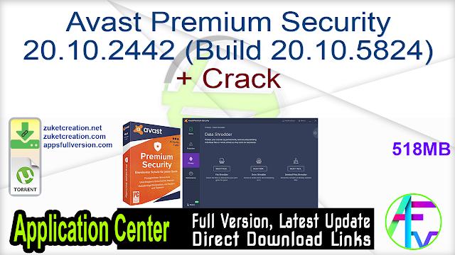 Avast Premium Security 20.10.2442 (Build 20.10.5824) + Crack