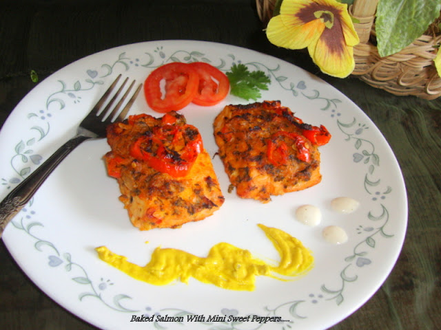 images of baked salmon