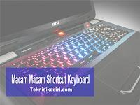 Macam-Macam Shortcut Keyboard Pada Laptop dan Fungsinya