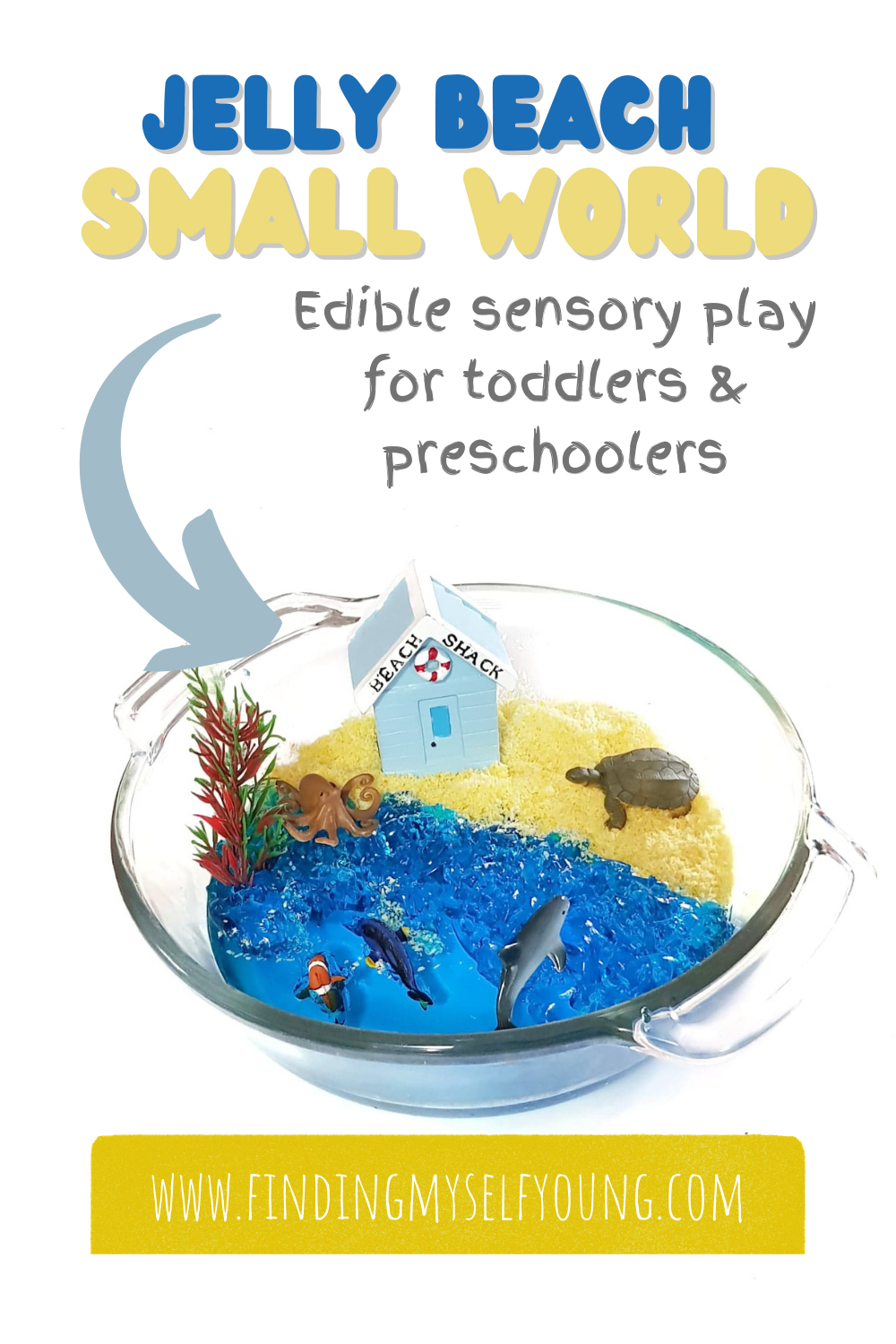 edible jelly beach small world sensory play for toddlers and preschoolers