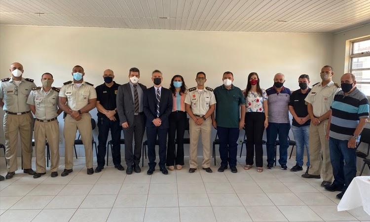 Comandante da 46ª CIPM promove reunião com autoridades de Livramento e região