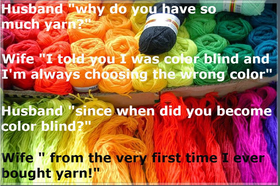rainbow colored yarn