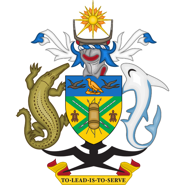 Logo Gambar Lambang Simbol Negara Kepulauan Solomon PNG JPG ukuran 600 px