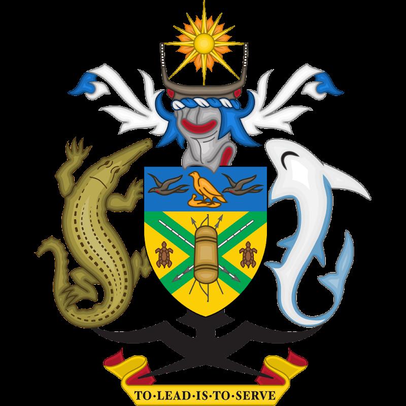 Logo Gambar Lambang Simbol Negara Kepulauan Solomon PNG JPG ukuran 800 px