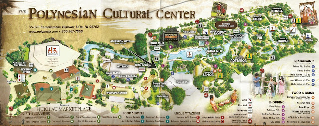 Map of the Polynesian Cultural Center