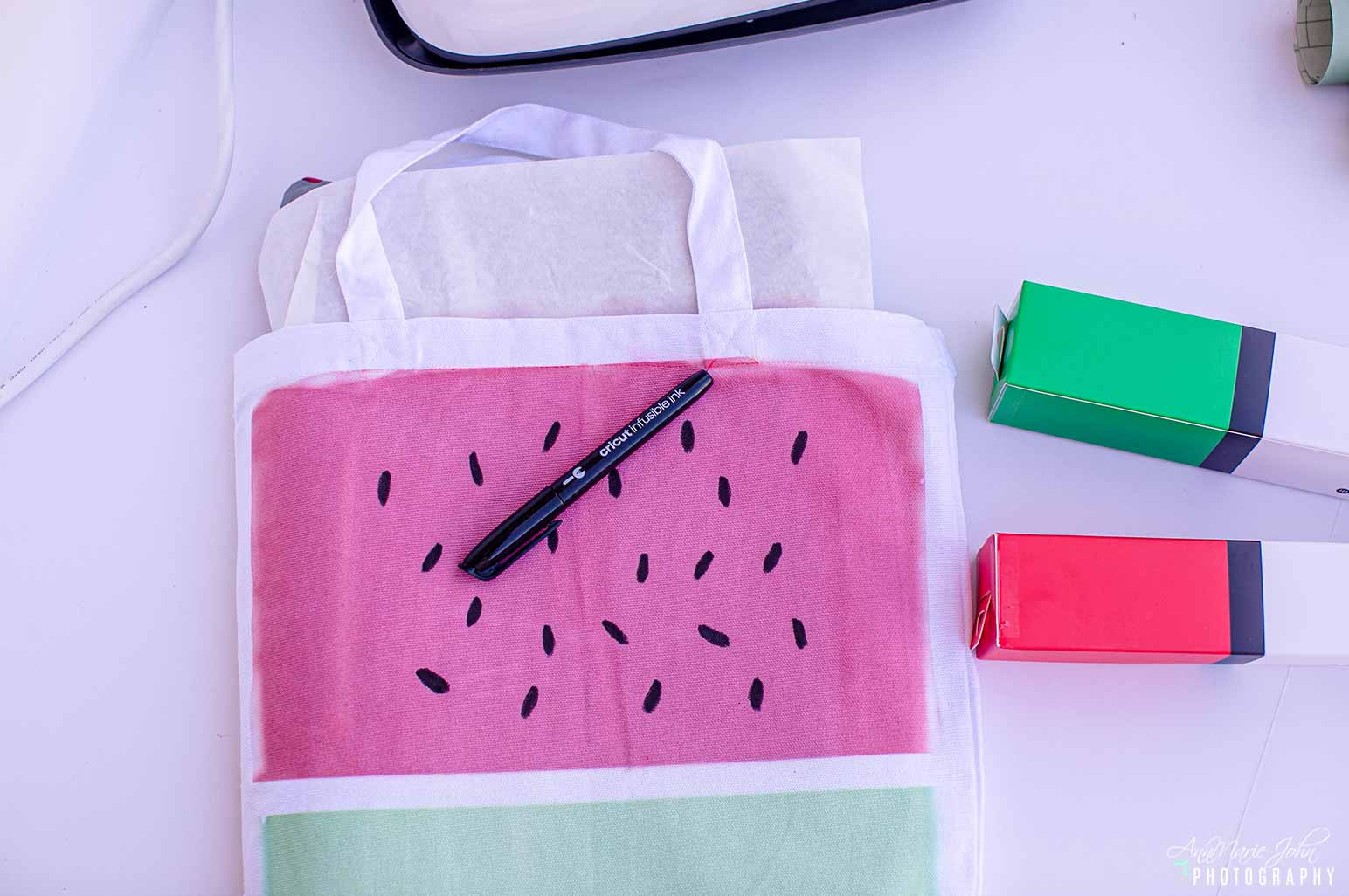 DIY Watermelon Tote Step 6