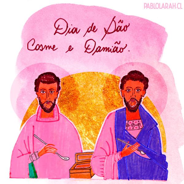 Illustration, São Cosme e Damião, Pablo Lara H