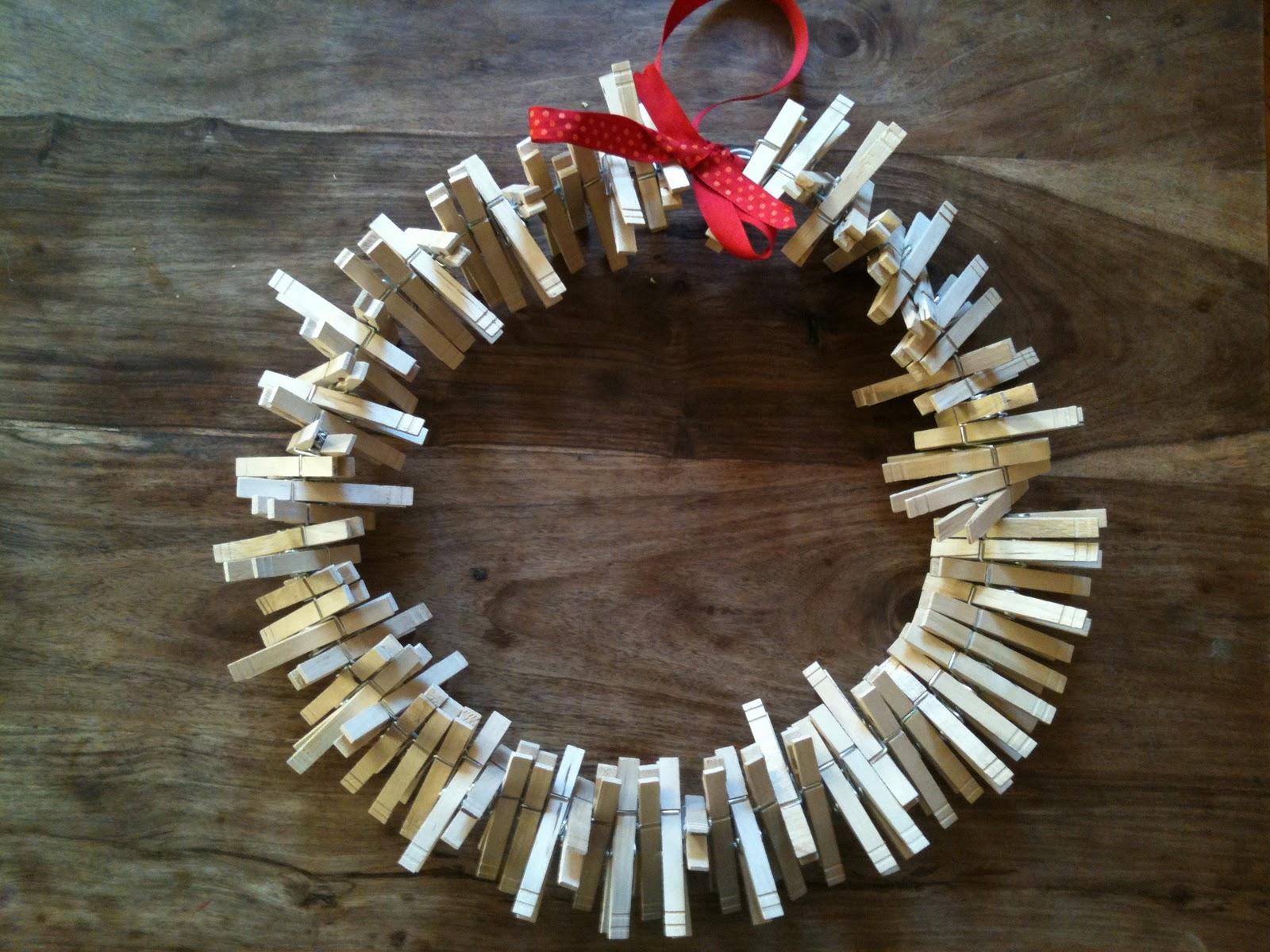 A Childhood List: 54) Clothespin Wreath
