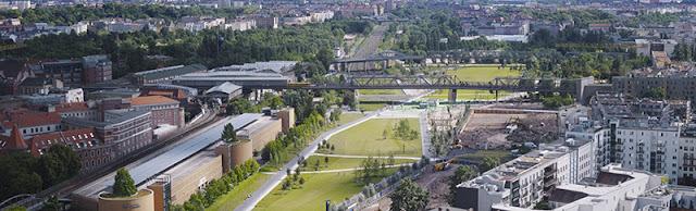 Antiga ferrovia vira parque urbano em Berlim