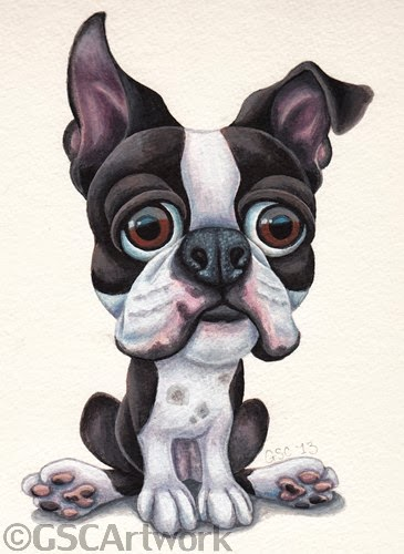 Boxer Dog Artwork Canvas