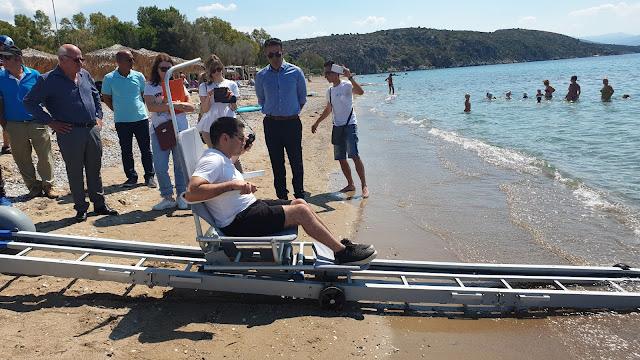 Δήμος Ναυπλιέων: Επαναλειτουργεί το σύστημα πρόσβασης AMEA στην παραλία της Πλάκας Δρεπάνου