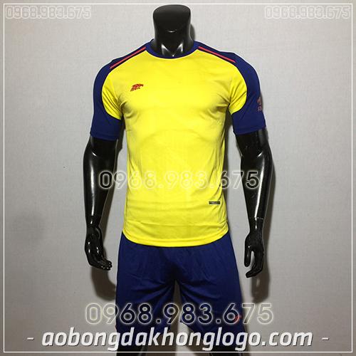 Áo bóng đá ko logo Eureka Raki màu vàng