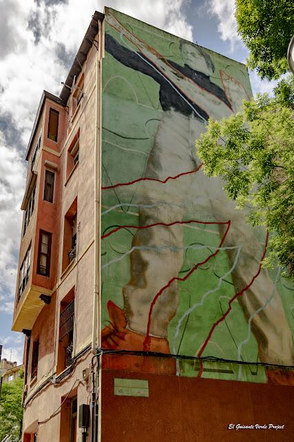 Mural en Iturburu 2, por José Ramón Bañales Urkullu - Bilbao, por El Guisante Verde Project