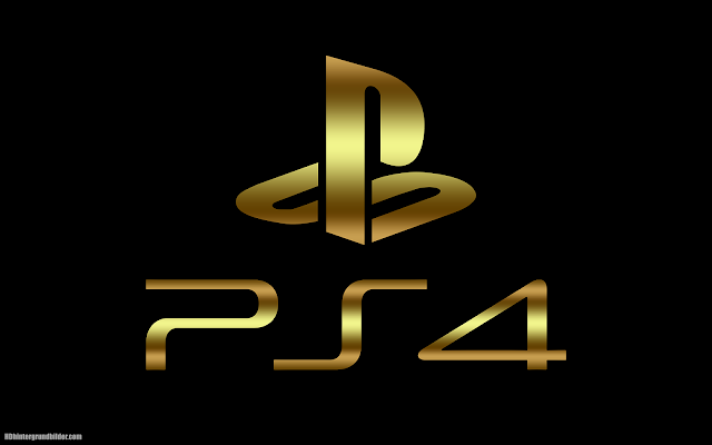 Golden Playstation 4 logo