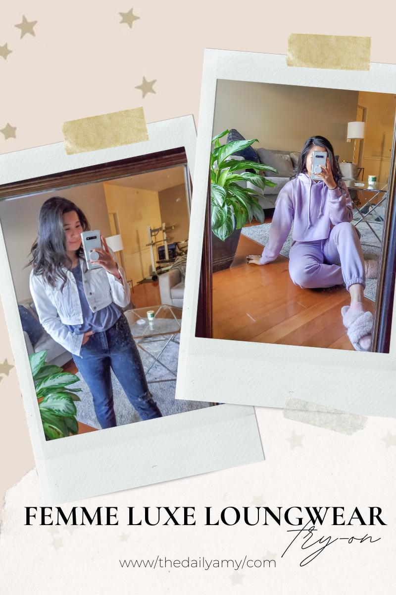 Femme Luxe loungewear try on