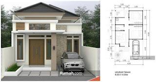 Desain Rumah ukuran 6X10 Meter 1 Lantai