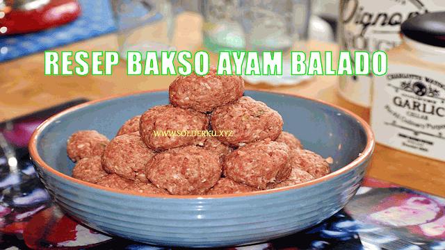 Resep Bakso Ayam Bumbu Balado
