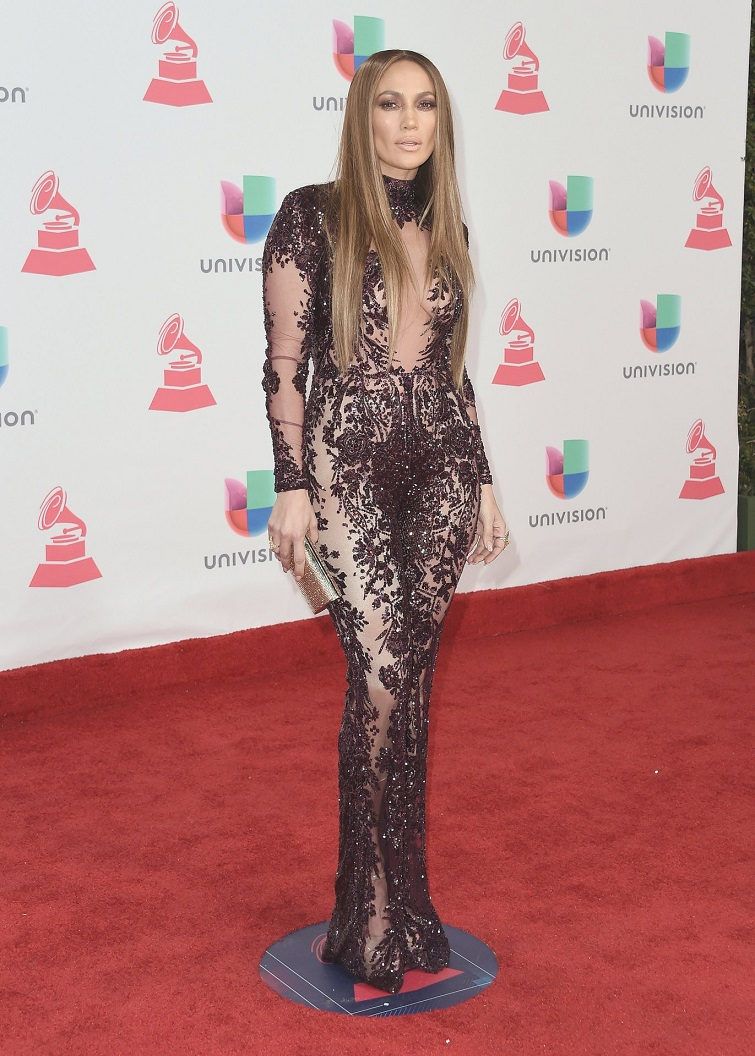 Jennifer Lopez wears sheer jumpsuit to the 17th Annual Latin Grammy Awards in Las Vegas