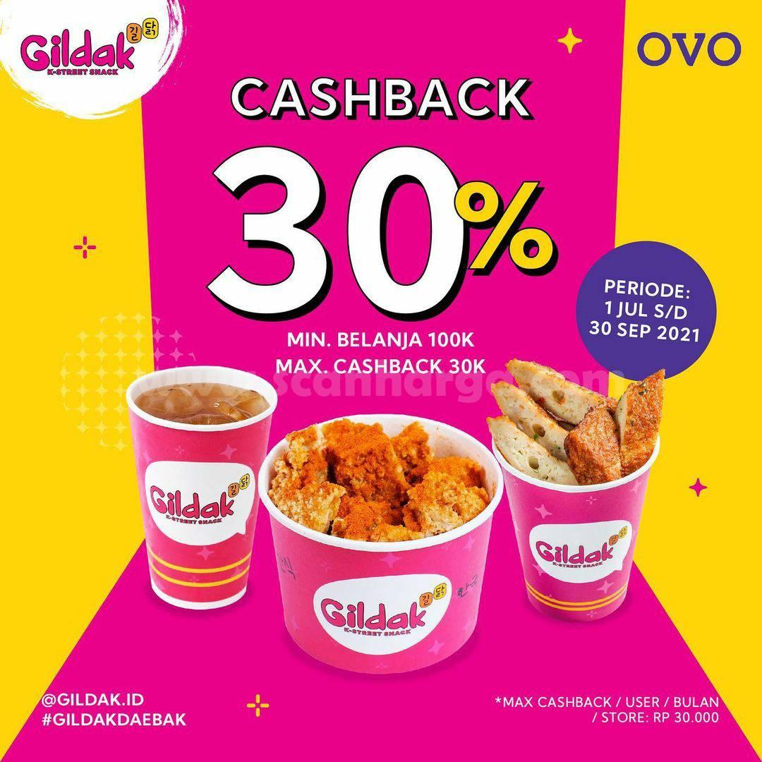 Promo GILDAK CASHBACK 30% Transaksi pakai OVO