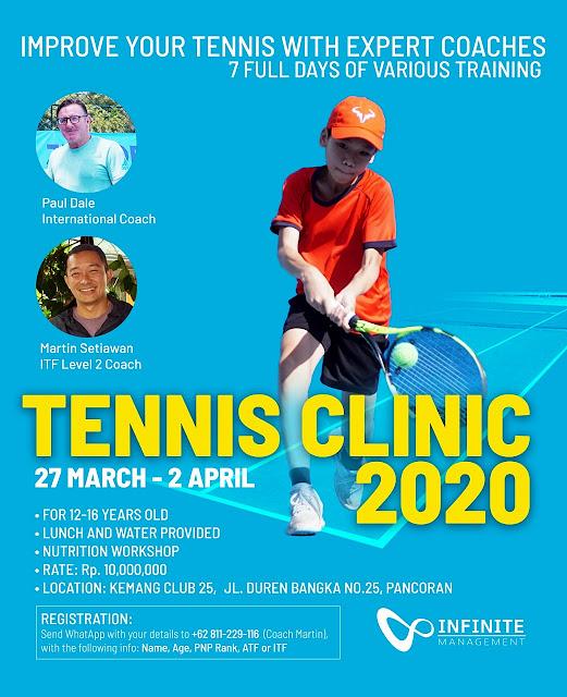 INFINITE JUNIOR TENNIS CLINIC 2020