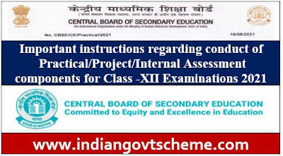 Practical Assessment components for Class -XII