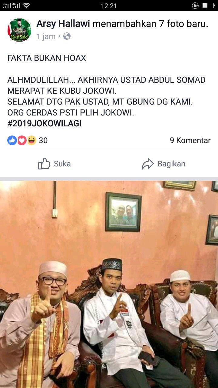 """Soal UAS """"Dukung Jokowi"""", Begini Cerita Sebenarnya"""