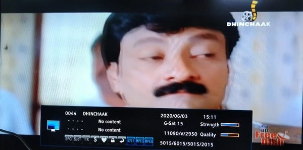 Dhinchaak channel Hindi movie channel added on DD Free Dish
