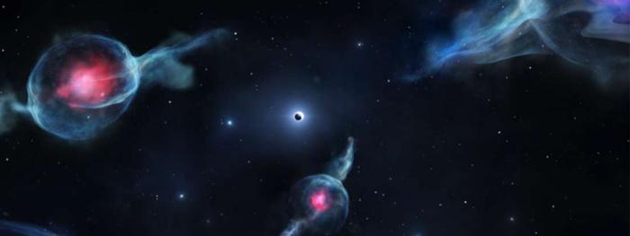 objetos estranhos em torno do buraco negro central da via láctea