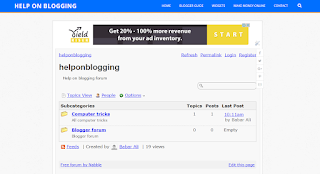 How to create a forum for your blogger blog