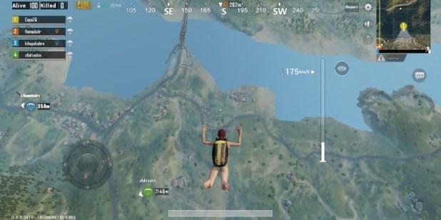 القفز بالمظله في لعبه ببجي pubg