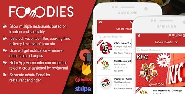 Download Native Restaurant Food Delivery & Ordering System With Delivery Boy - Android v2.0.5