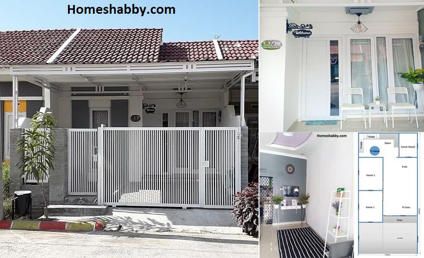 Contoh Model Rumah Minimalis Terbaru Tahun Ini Type 30 Luas Tanah 60 M2 Yang Elegan Dan Modern Homeshabby Com Design Home Plans Home Decorating And Interior Design