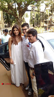 Bollywood Actress Shilpa Shetty Pos in White Gown at The Inauguration Of Shelar Make up Academy  0009.jpg
