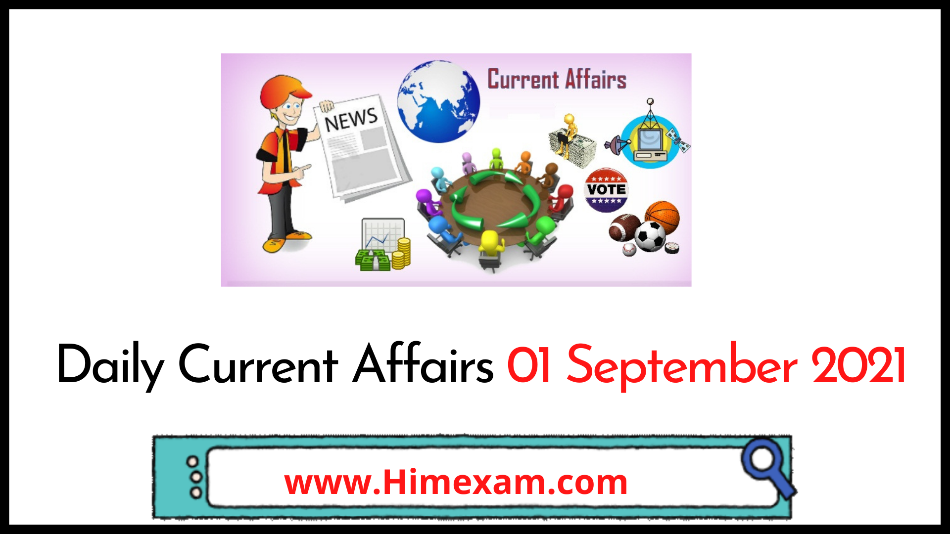 Daily Current Affairs 01 September 2021