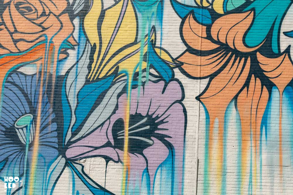 French Street artist Nerone Shoreditch Street Art Mural