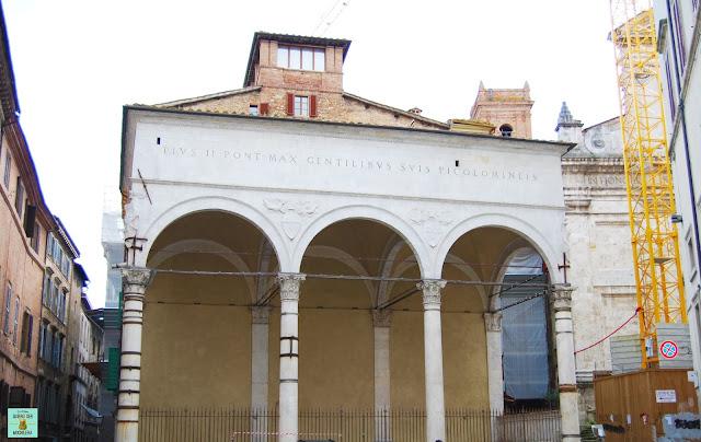 Loggia del Papa en Siena