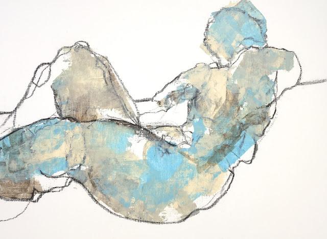 reclining abstract figure, gallery juana