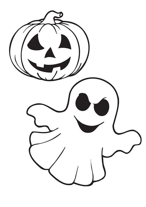 Tranh tô màu Halloween đơn giản